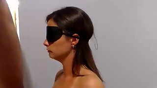 Cuffed, blindfolded, gagged