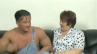 Mature BBW banging on monster cock while she moans