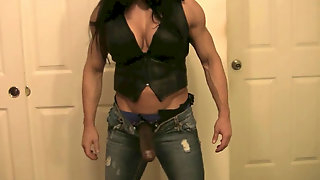 Fit muscle nymphs ball-busting