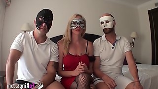 Spanish Swingers roadtrip with Elsa - threesome sex with her hubby and new friend