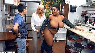 Kinky interracial threesome with Dana Dearmond and Layton Benton
