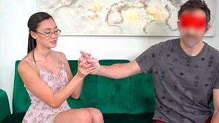 Despondent Asian chick Madi Laine takes money for wanton fucking in POV