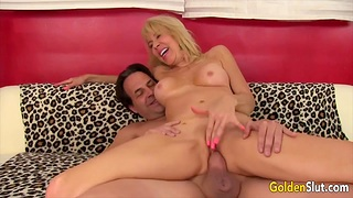 Cock hungry blonde old women enjoy taking hard dicks in pussy and property fucked acquiescent