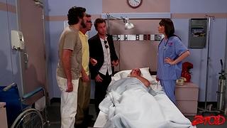 Hot ass nurse Dana Dearmond drops her briefs connected with ride a patient