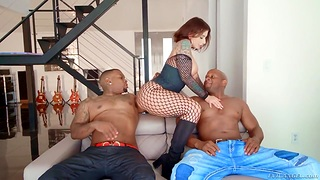 PAWG Ivy Lebelle goes black and gets double penetrated