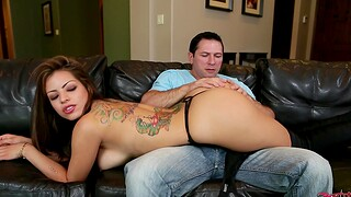 Naughty stripper Yurizan Beltran gives a blowjob and rides his dick