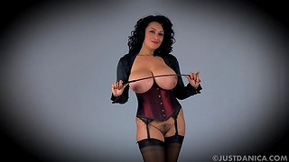 Mr Big mature Danica Collins loves flashing her jugs together with pussy