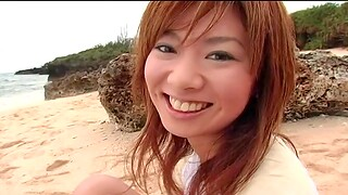 Into the open air amateur video of adorable Aki Katase getting fucked constant