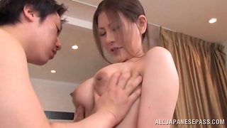 Soaking creampie ending after amazing fucking with a Japanese cutie