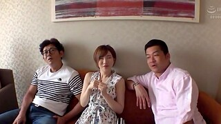 Kinky Japanese MMF threesome with lovable chick Satomi Yuria