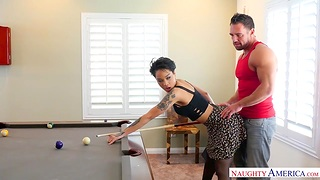 Captivating Asian babe Honey Yellowish is making love with the brush day Johnny Castle
