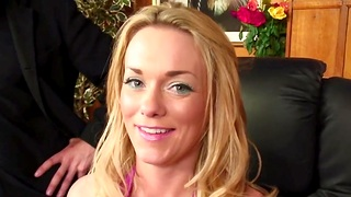 MMF threesome give the rendezvous with sexy Paige Ashley give skivvies