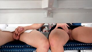 Hardcore fucking ends with cum in mouth for chubby Gabriela Lopez