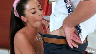 Latina side fucked and imperceivable in sperm
