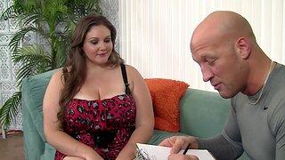 Chubby chick Joslyn Underwood enjoys having sex with a horny man