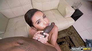 Hardcore vaginal and anal sex between a BBC and Aaliyah Hadid