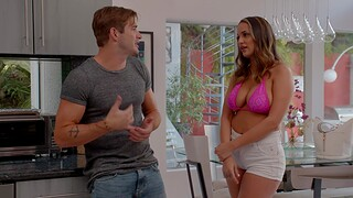 Incredible shagging in the living-room with natural boobs Sofi Ryan