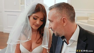 Stepdad fucks bride stepdaughter Adria Rae in anus coupled with deep throat