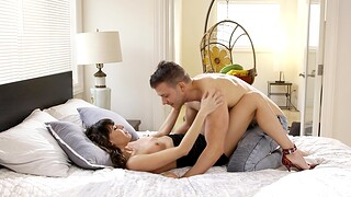 Shaved wife Vera King moans with pleasure during canon fucking