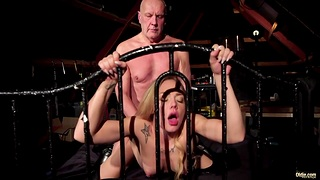 Old fucker enjoys young gripe Angie Lee in 69 and doggy positions