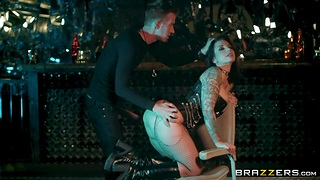 Tattooed milf Ivy Lebelle is banged in anal gap with huge horseshit of Danny D